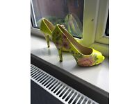 Three pairs of size 5 pencil heel shoes