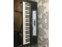 Yamaha Electronic Keyboard PSR E213 With 12v Power Supply and stand + stool