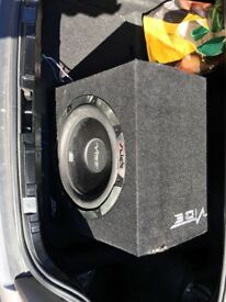 Vibe Slick s12 subwoofer speaker with surround casing.