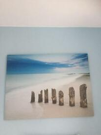 Large Beach themed canvas - excellent condition