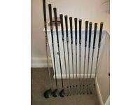 Slazenger golf set Woods, Irons and Wilson Bag