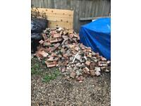Hardcore brick rubble