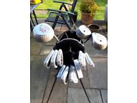 Full set of Golf Clubs with Standing bag.