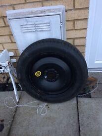 Spare wheel/brake shoes