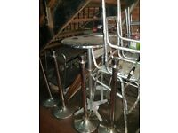 Aluminium table & 2 x chairs