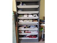 Large storage cupboard with sliding storage shelves (no doors)