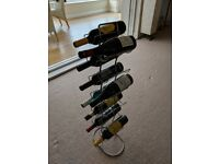Silver wine rack, 12 bottles, H79cm