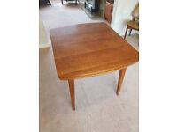 Retro mid-century oak veneer dining table