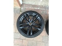 """Genuine stamped RS6 set of 4 20"""" alloy wheels"""