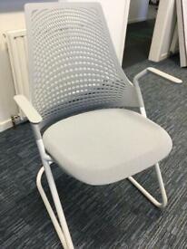 Herman Miller Cantilever Grey Mesh Back Office Chair