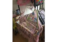 Baby crib with mattres & changing mat(new)