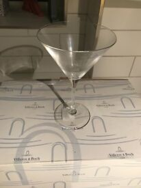 NEW Villeroy & Boch, set of 6 martini glasses