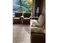 Vintage mid century 2x2 seater sofas (or 1x4 seater sofa) and 2 armchairs FREE