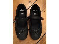 Girls Clarks school shoes - size 11 E