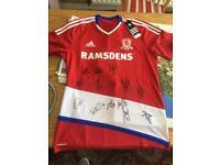 Signed Middlesbrough shirt size med