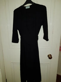 Black Bravissimo wrap dress, Size 12 Curvy/Really curvy