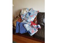 Boys bedding and curtains