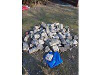Pile of rockery stones