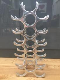 Lovely 18 bottle metal wine rack