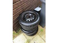 """4x 14"""" steel wheels. 175 65 R14"""