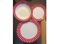 Crockery set / plates, bowls and mugs set (for 4) - use for everyday or for Christmas!