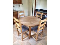 Solid Oak Kitchen table and chairs for sale  Halifax, West Yorkshire