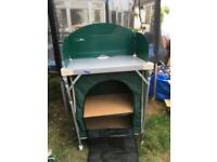 Camping pantry and cooker stand