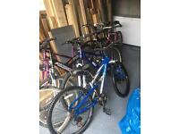 Various mountain bikes adult medium large frames