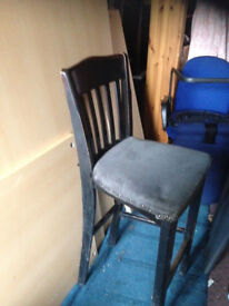 pub stool wooden frame fabric seats high chair Norbury, London