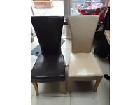 6 leather high back chairs