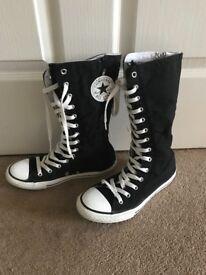 Converse Mid Calf Black Allstars UK size 5