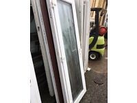 Recycled all glass / White Frame Upvc Back Door (750 x 2110) £130.00 (3 KEYS)