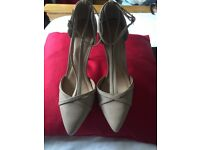 Brand New Asos Nude Ankle-strap Heeled Shoes Size 6