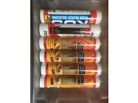 JOB LOT OF FIRE PROOF SILICONE SEALENT FOR £1 OR 2 FOR £1.50