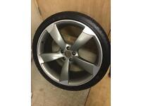 "Audi A7 black edition 21"" alloy wheel & tyre"