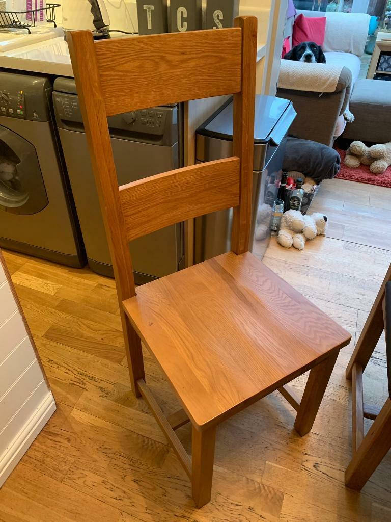 Solid Oak Dining Chairs X 2 55 Each Discount Given For Multiple