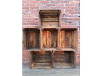 2,3,4,6,12 wooden crates fruit apple boxes vintage home decor Cleaned!