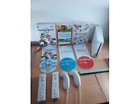 Nintendo Wii Console+ 2 Wiimotes/Nunchuks - Mario Kart Wii + More - Fully Tested