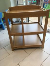 Mamas and Papas Oak changing table - Great Condition