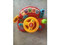 Interactive steering wheel