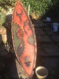 Decretive Africa wooden shield