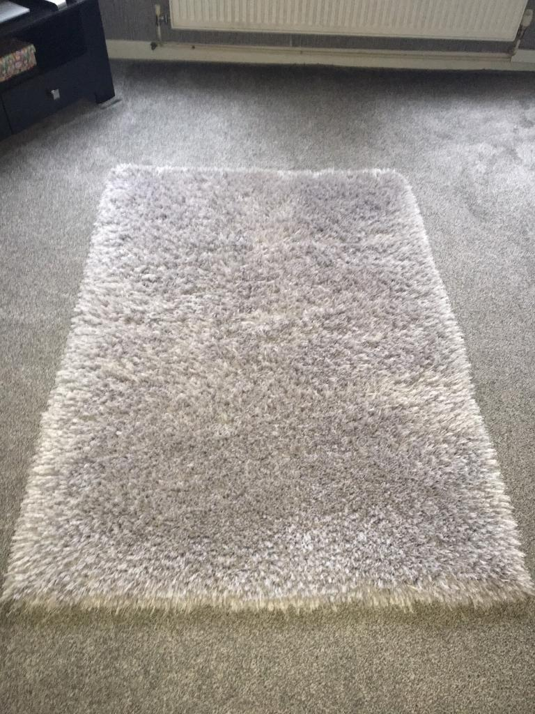 Large Grey Fluffy Rug In Sheffield South Yorkshire