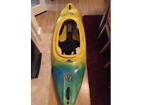 Junior kayak, Robson supersonic blue&yellow + paddle