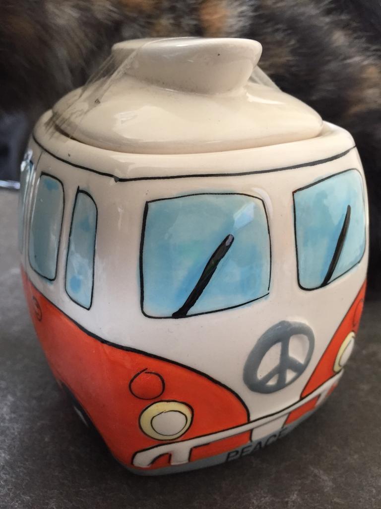 VW camper sugar potin Wimborne, DorsetGumtree - VW caper style sugar pot with lid, in box, perfect Xmas present for someone VW mad