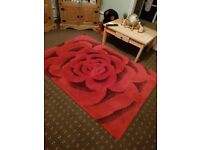 Large red rug Clean and good condition 120×170cm