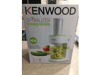 Kenwood Spiralizer - Brand new and never used