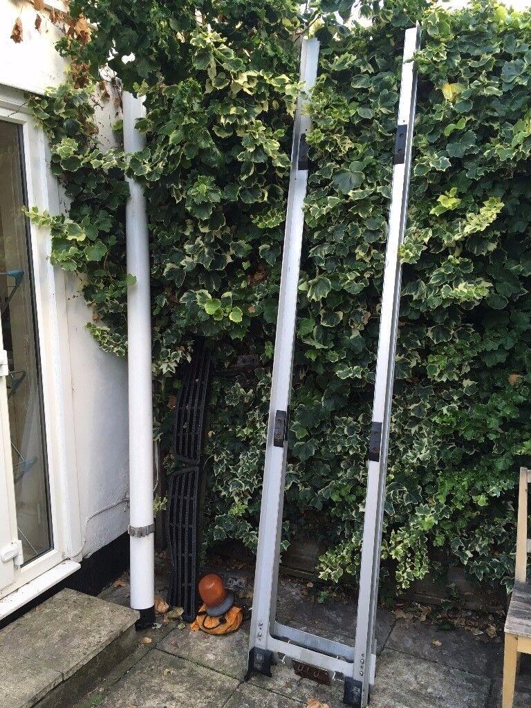 VAN ROOF RACK PARTS - Ladder rack, PVC pipe holder, rear bumper and step, orange light MUST GO!