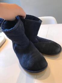 Short navy ugg boots