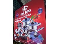 High Quality 16 PC Swiss Precision Cookware Set Royalty Stainless Steel 9 Layers BRAND NEW IN BOX