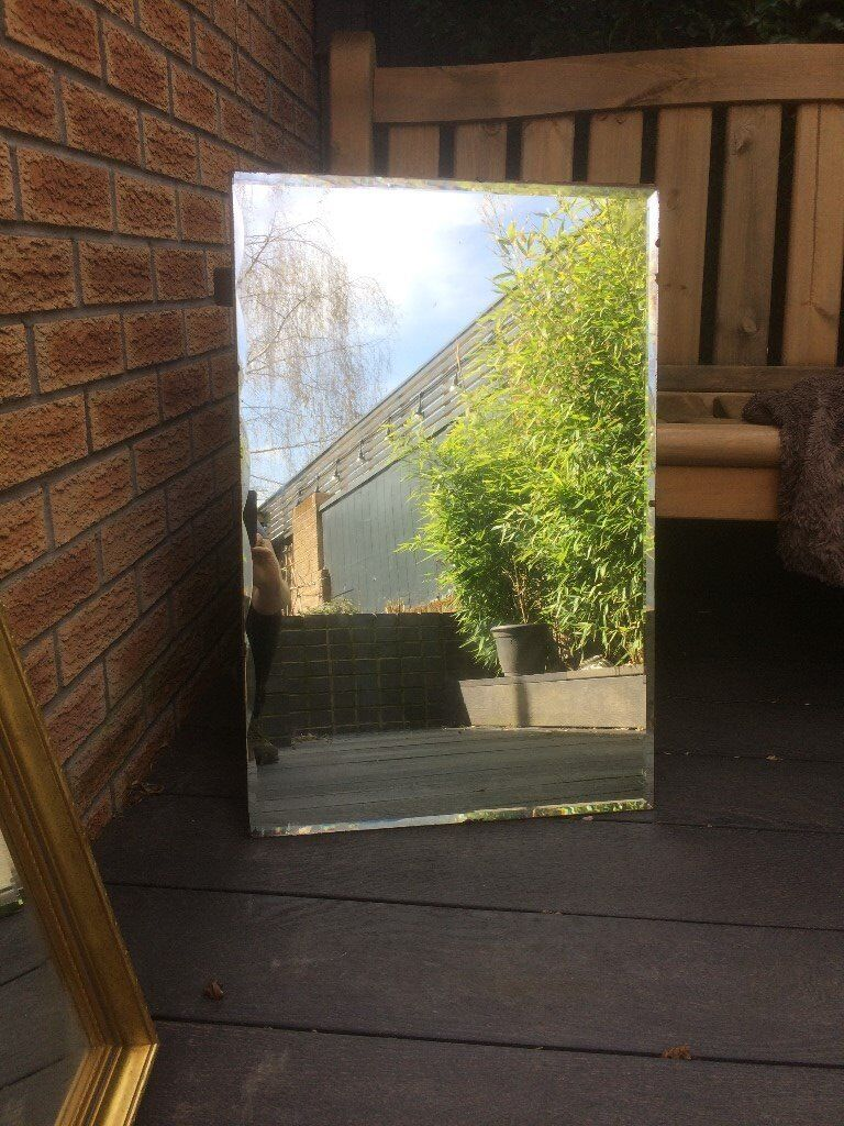 Beautiful frameless mirror vintage